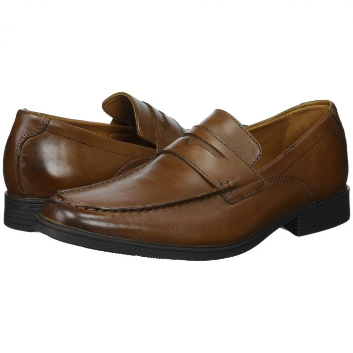 クラークス CLARKS メンズ ローファー 【 Tilden Way 】 Dark Tan Leather