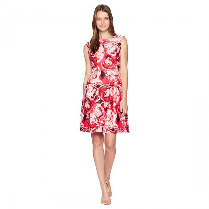 【海外限定】ローズ ドレス レディースファッション ワンピース 【 ROSE TAYLOR PRINT FITANDFLARE DRESS 】【送料無料】
