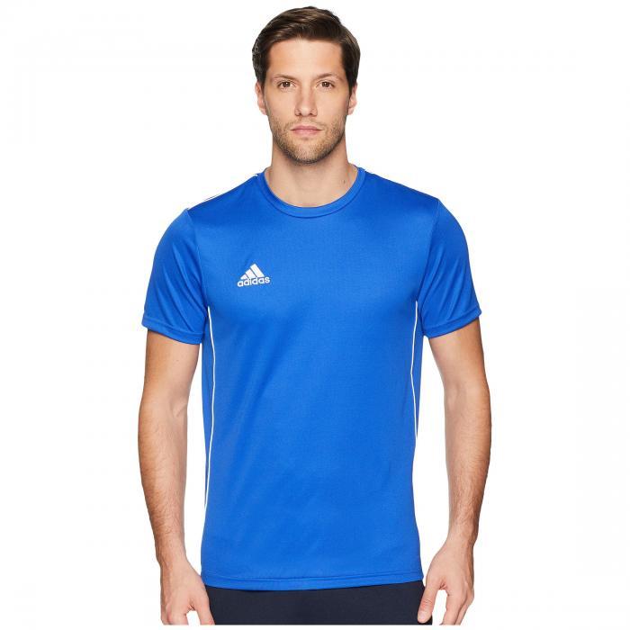 アディダス ADIDAS トレーニング ジャージ 青 ブルー 白 ホワイト 【 BLUE WHITE ADIDAS CORE18 TRAINING JERSEY BOLD 】 メンズファッション トップス Tシャツ カットソー