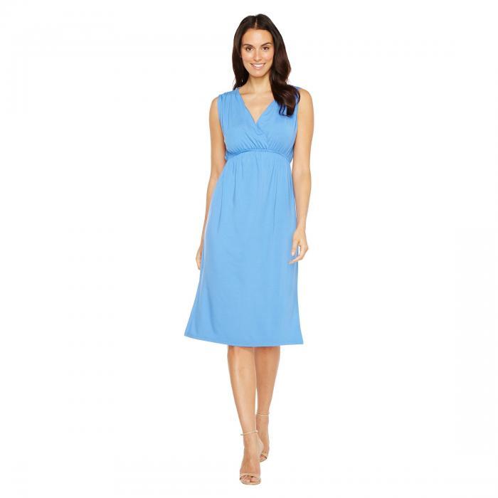 LILLA P ドレス レディースファッション ワンピース レディース 【 Shirred Shoulder Midi Dress 】 Periwinkle