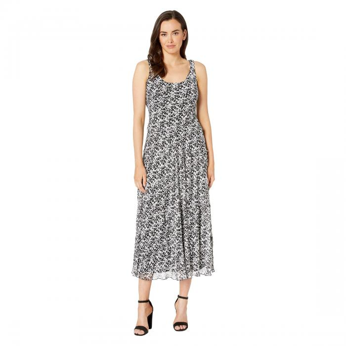 NINE WEST ドレス 【 MULTI TIER MAXI DRESS YORYU BLACK IVORY 】 レディースファッション ワンピース 送料無料