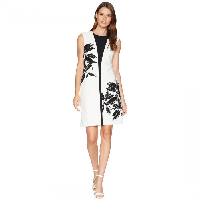 【海外限定】ドレス ワンピース レディースファッション 【 TAYLOR CONTRAST FLOWER SHEATH DRESS 】【送料無料】