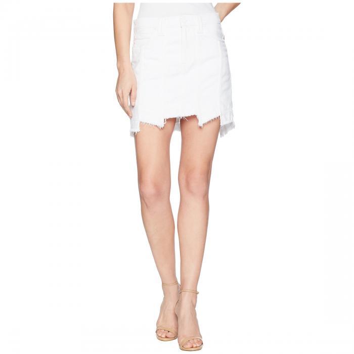 【海外限定】白 ホワイト レディースファッション スカート 【 WHITE HUDSON JEANS WEEKENDER STEP HEM JEAN SKIRT IN 】【送料無料】