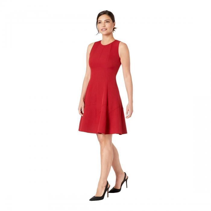 アンクライン 送料無料 ワンピース レディースファッション 】 Dark Red Titian Dress