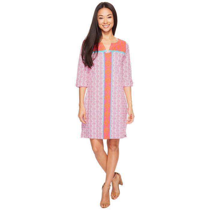 HATLEY スリーブ ドレス レディースファッション ワンピース レディース 【 Peplum Sleeve Dress 】 Cross Hatch Tropics