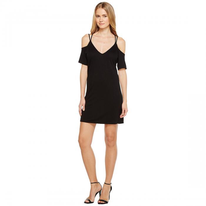 LANSTON ストラップ 【 COLD SHOULDER X STRAP DRESS BLACK 】 レディースファッション ワンピース 送料無料