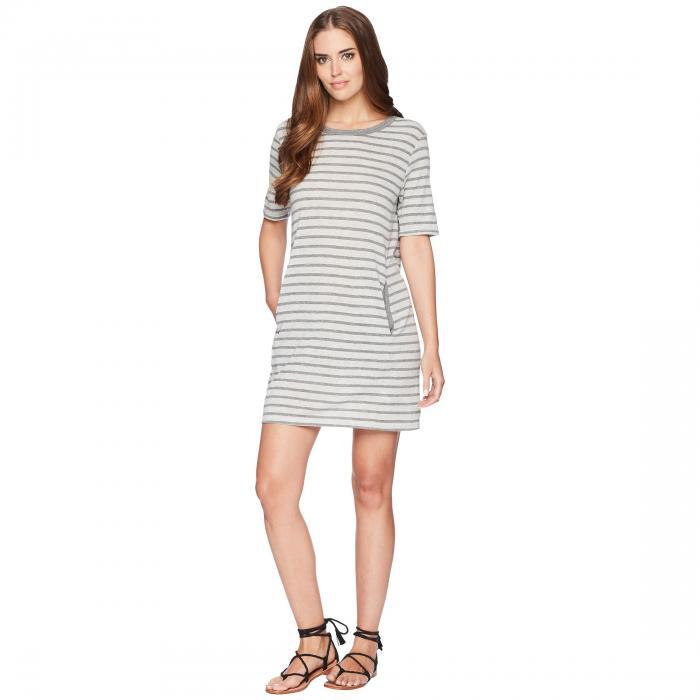 オルタナティブ ALTERNATIVE ジャージ Tシャツ ドレス レディースファッション ワンピース レディース 【 Eco Jersey Pocket T-shirt Dress 】 Eco Grey Riviera Stripe