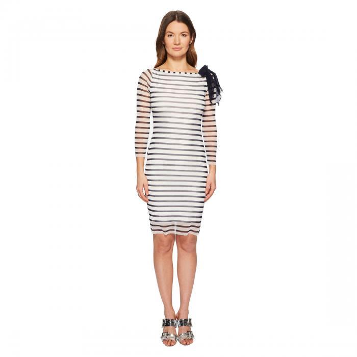 FUZZI スリーブ ストライプ ドレス レディースファッション ワンピース レディース 【 Long Sleeve Stripe Fitted Dress 】 Cocco