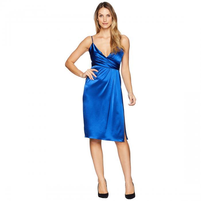JILL JILL STUART サテン ラップ ドレス レディースファッション ワンピース レディース 【 Satin Wrap Cocktail Dress 】 Royal Blue