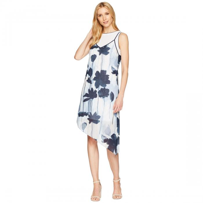 KENNETH COLE NEW YORK ドレス レディースファッション ワンピース レディース 【 2 Layer Dress 】 Linear Floral/indigo