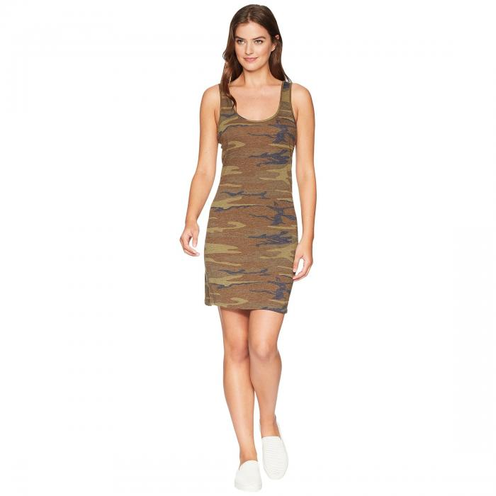 オルタナティブ ALTERNATIVE ジャージ タンクトップ ドレス レディースファッション ワンピース レディース 【 Eco Jersey Printed Tank Dress 】 Camo