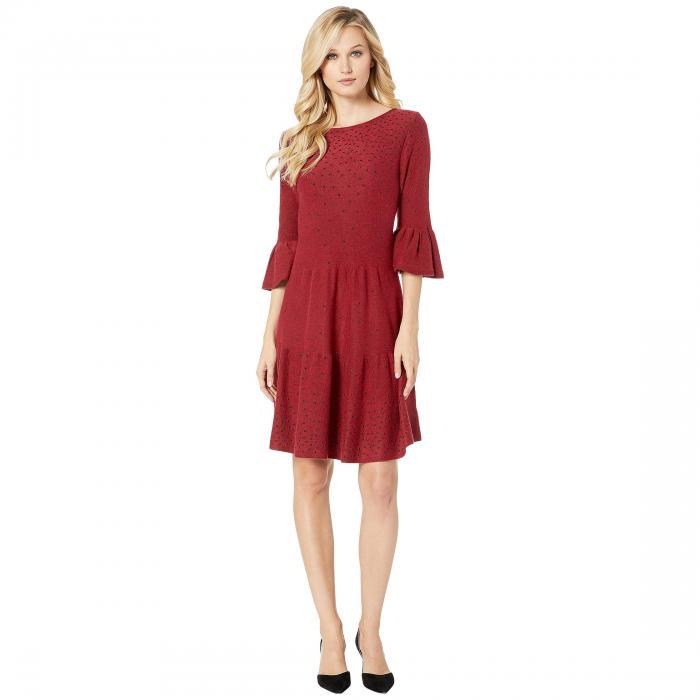 NIC+ZOE ドレス レディースファッション ワンピース レディース 【 Celestial Stud Dress 】 Ruby