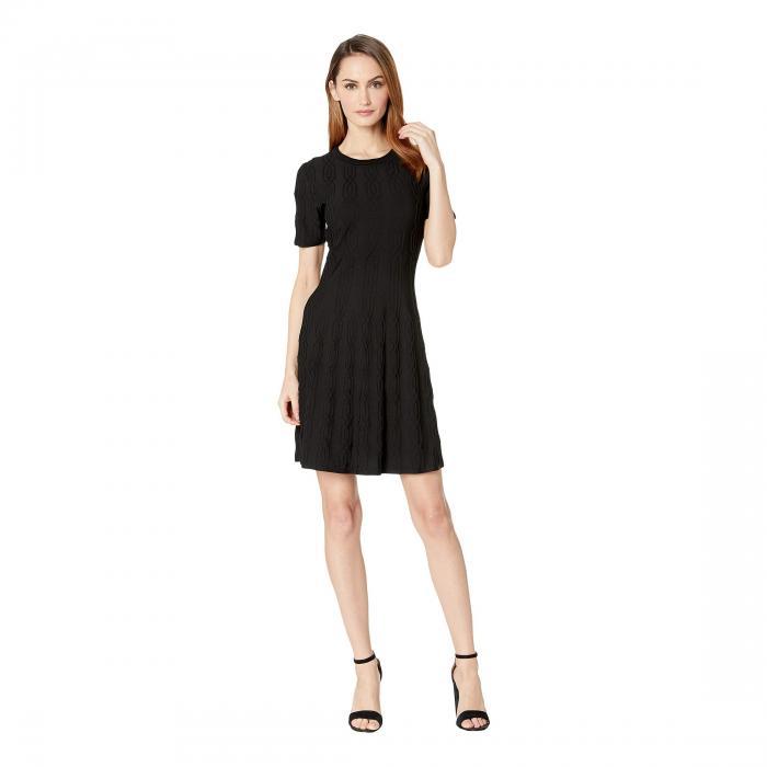 キャサリンキャサリンマランドリーノ CATHERINE CATHERINE MALANDRINO スリーブ ドレス レディースファッション ワンピース レディース 【 Short Sleeve Sweater Dress 】 Black