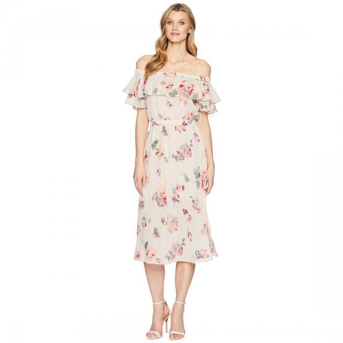 LUCKY BRAND ドレス レディースファッション ワンピース レディース 【 Off Shoulder Printed Dress 】 Pink Multi