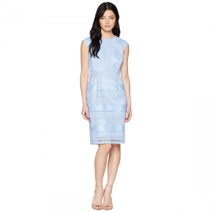 TAHARI BY ASL キャップ 帽子 スリーブ ドレス レディースファッション ワンピース レディース 【 Petite Cap Sleeve Lace Sheath Dress 】 Periwinkle