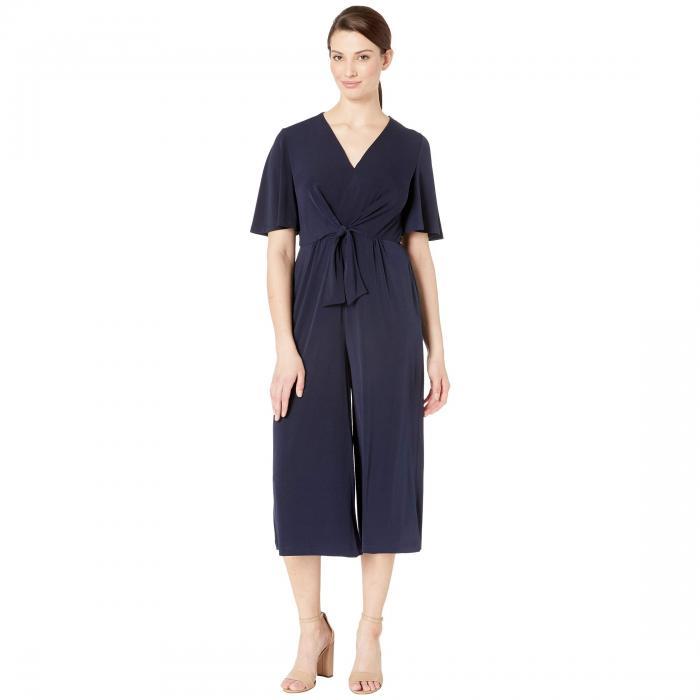 LONDON TIMES レディースファッション オールインワン サロペット レディース 【 Tie Front Jumpsuit 】 Dark Navy