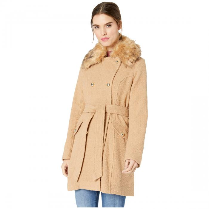【★スーパーセール中★ 6/11深夜2時迄】JESSICA SIMPSON レディース 【 Wool Coat W/ Faux Fur 】 Camel