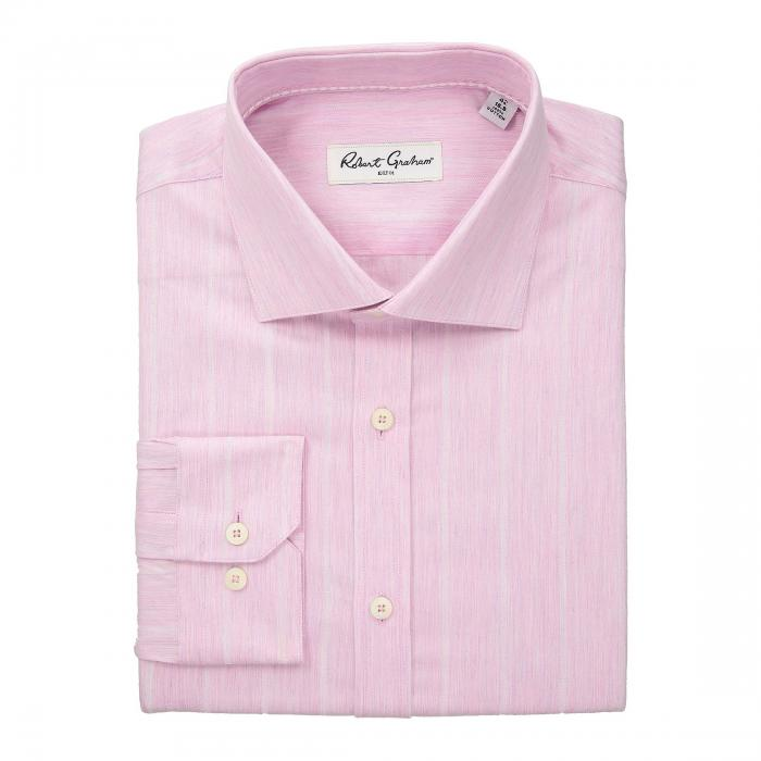 ROBERT GRAHAM ストライプ ドレス ピンク 【 STRIPE PINK ROBERT GRAHAM STORM DRESS SHIRT 】 メンズファッション トップス ワイシャツ