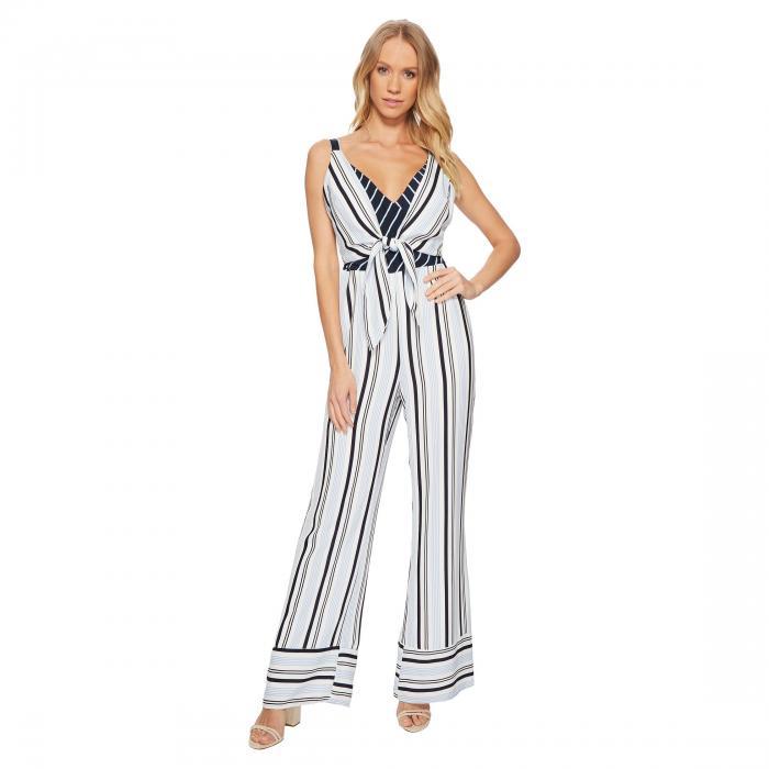 ADELYN RAE レディースファッション オールインワン サロペット レディース 【 Ava Jumpsuit 】 White/blue