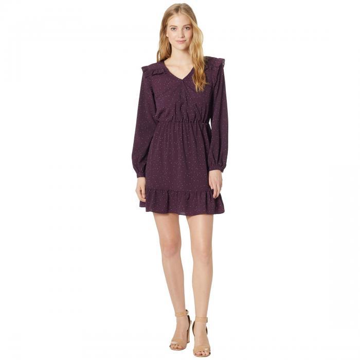 KENSIE ドレス レディースファッション ワンピース レディース 【 Celestial Stars Dress Ksnk8312 】 Aubergine Combo