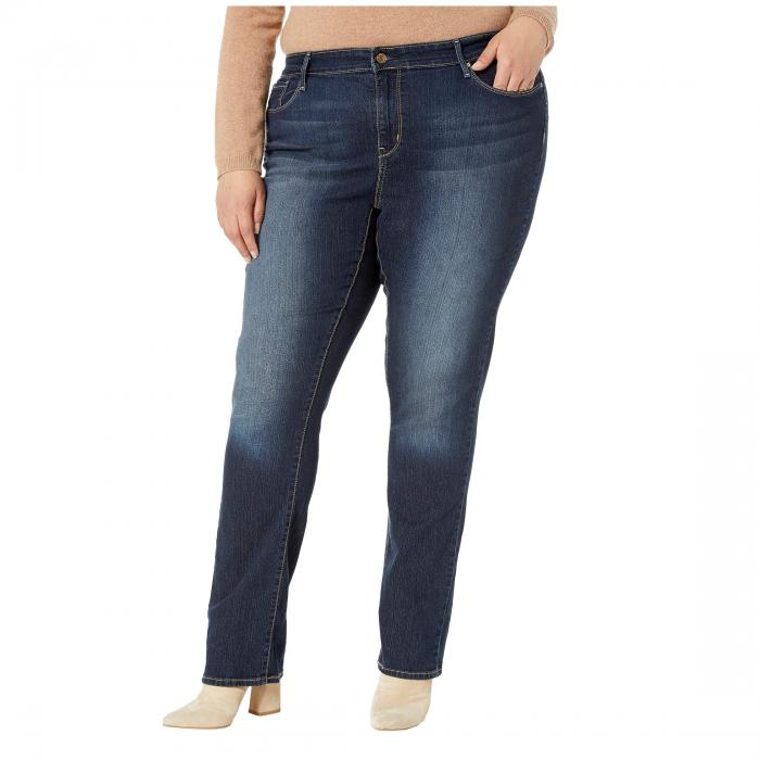 SIGNATURE BY LEVI STRAUSS & CO. GOLD LABEL 金色 ゴールド & CO. 【 SIGNATURE BY LEVI STRAUSS GOLD LABEL PLUS SIZE STRAIGHT JEANS COSMOS 】 レディースファッション ボトムス パンツ