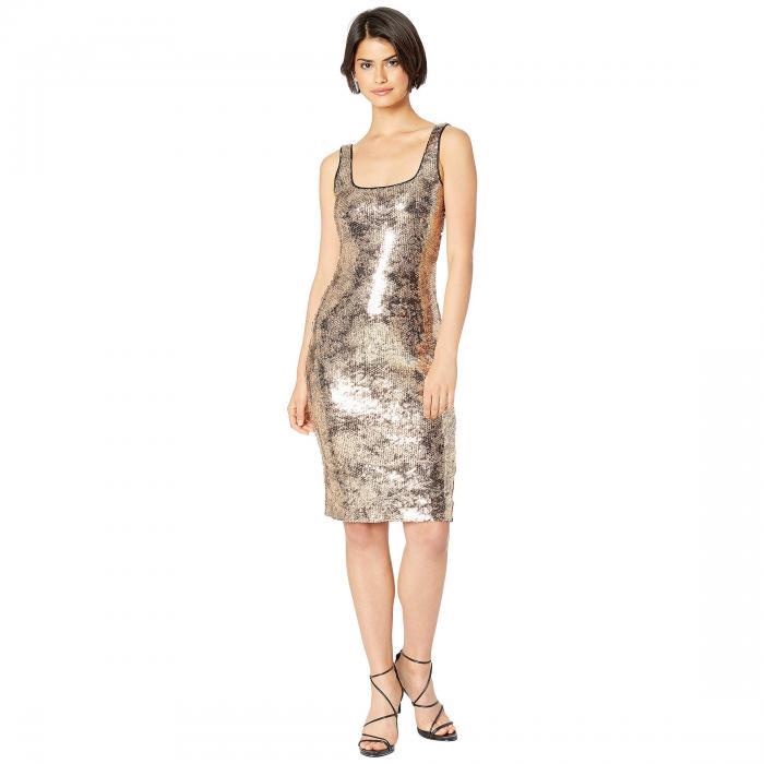 バルドット BARDOT 【 SEQUIN NEVE DRESS GOLD FOIL 】 レディースファッション ワンピース 送料無料