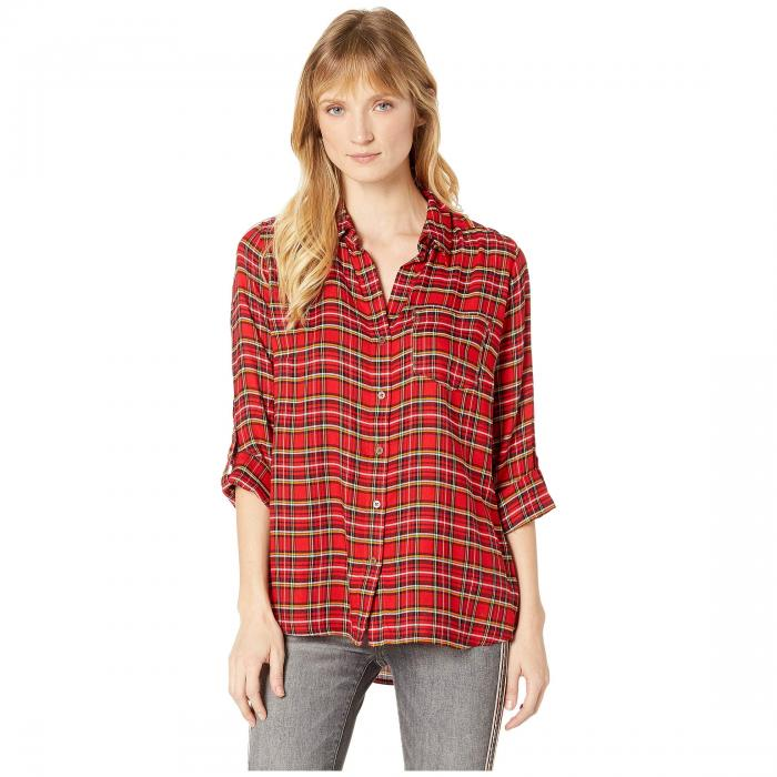 KUT FROM THE KLOTH スリーブ 赤 レッド 【 SLEEVE RED KUT FROM THE KLOTH CARINE LONG SHIRT 】 レディースファッション トップス Tシャツ カットソー