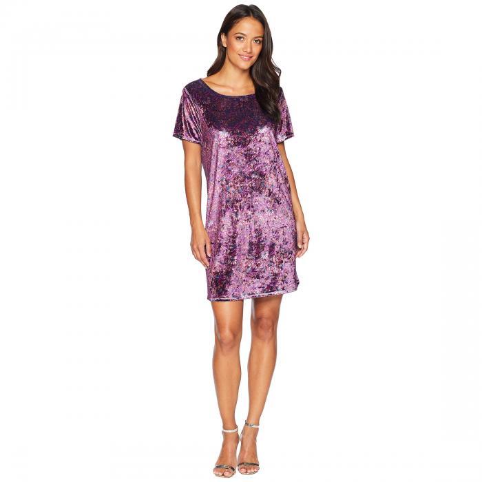LUCKY BRAND Tシャツ ドレス レディースファッション ワンピース レディース 【 Velvet Tee Dress Plus 】 Purple Multi
