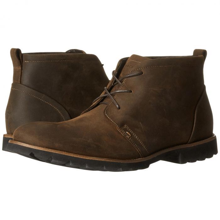【★スーパーセール中★ 6/11深夜2時迄】ROCKPORT メンズ ブーツ 【 Charson 】 Brown Oiled Leather
