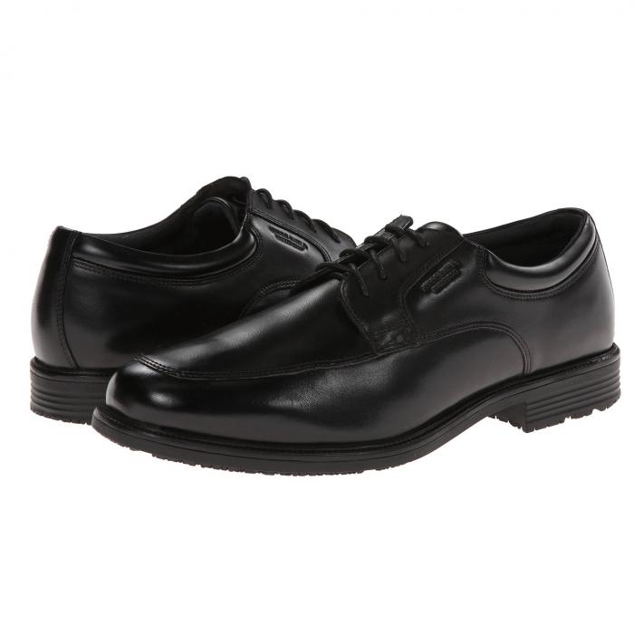 ROCKPORT メンズ ビジネススニーカー 【 Lead The Pack Apron Toe 】 Black Wp Leather