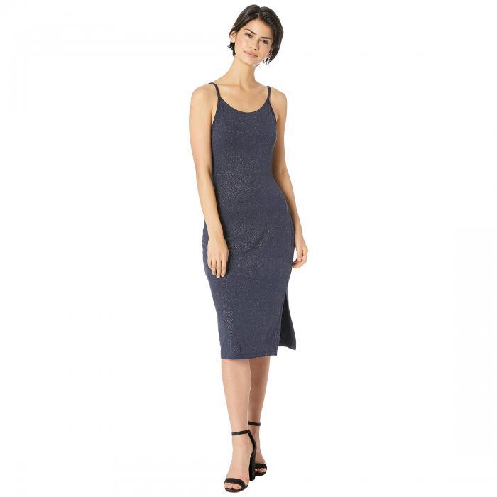チェイサー CHASER ドレス レディースファッション ワンピース レディース 【 Drape Back Side Slit Glitter Mini Slip Dress 】 Blueberry