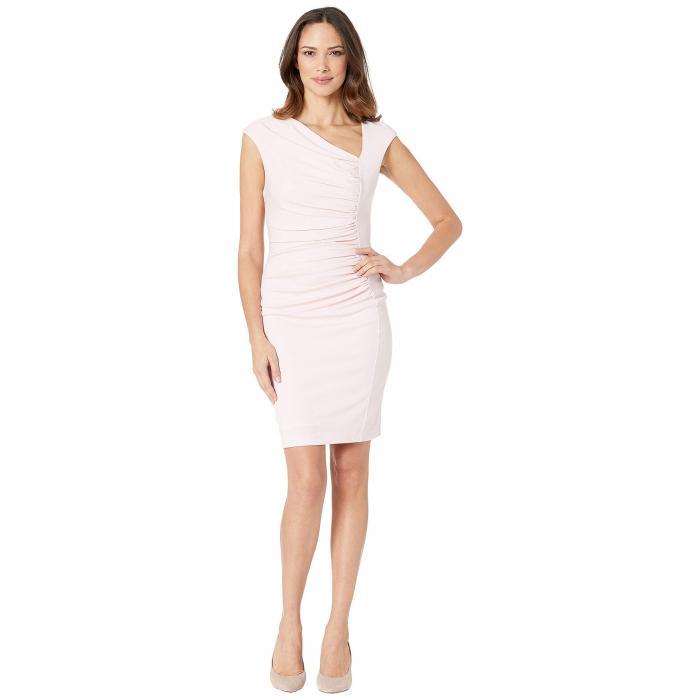 ALEXIA ADMOR ドレス レディースファッション ワンピース レディース 【 Brooke Asymmetric Ponte Ruched Sheath Dress 】 Blush