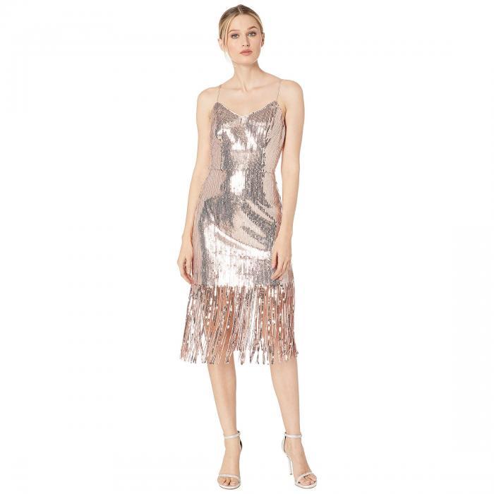 LAUNDRY BY SHELLI SEGAL ドレス レディースファッション ワンピース レディース 【 Metallic Cocktail Dress 】 Rose Gold