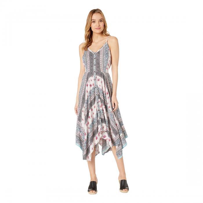 アンジー ANGIE ドレス レディースファッション ワンピース レディース 【 Scarf Hem Midi Dress 】 Ivory/blue