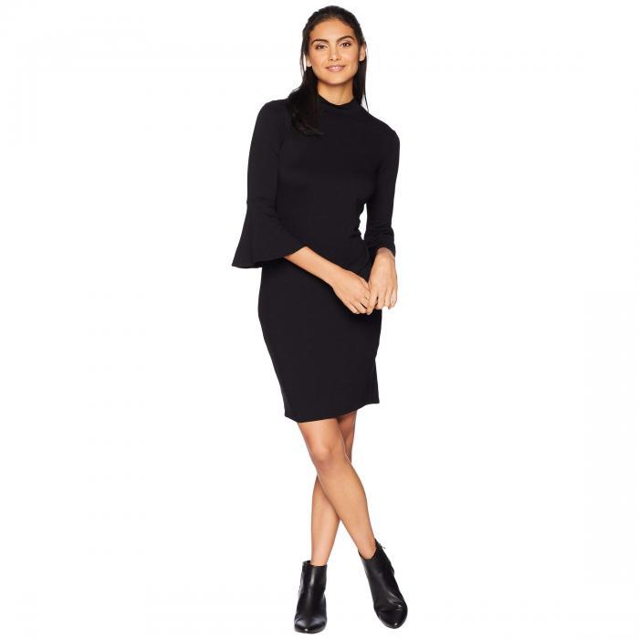 MICHAEL STARS スリーブ ドレス レディースファッション ワンピース レディース 【 Elevated French Terry Bell Sleeve Dress 】 Black
