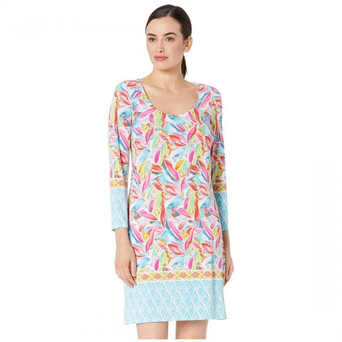 PAPPAGALLO ドレス レディースファッション ワンピース レディース 【 The Erin Dress - Border Floral Printed Ity 】 Tropical Multi
