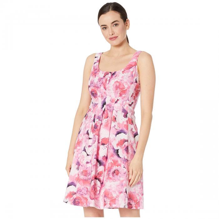 PAPPAGALLO ドレス レディースファッション ワンピース レディース 【 The Carrot Dress - Printed Cotton Eyelet 】 Azalea Multi