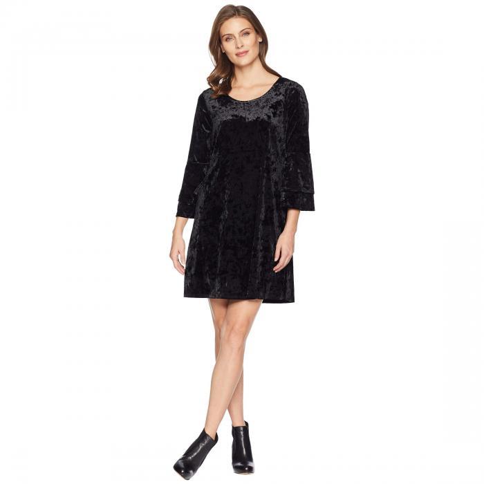 TRIBAL スリーブ ドレス レディースファッション ワンピース レディース 【 Long Sleeve Frill Detail Dress 】 Black