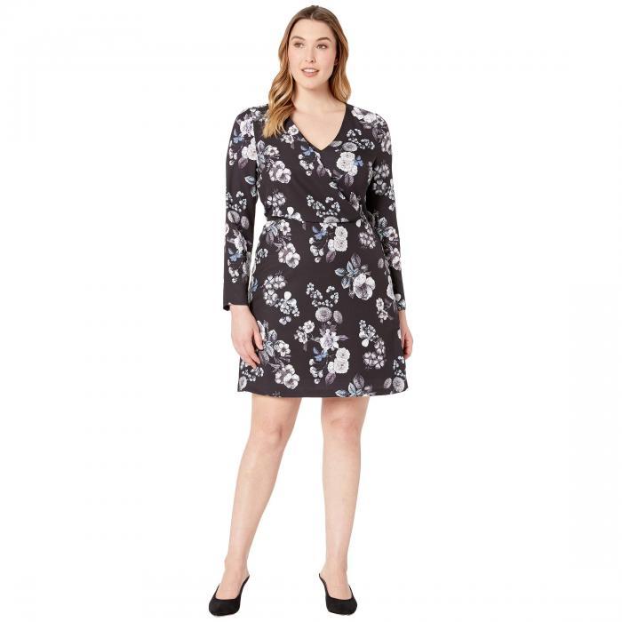 アドリアナパペル ADRIANNA PAPELL ドレス レディースファッション ワンピース レディース 【 Etch Flora A-line Dress 】 Black Multi