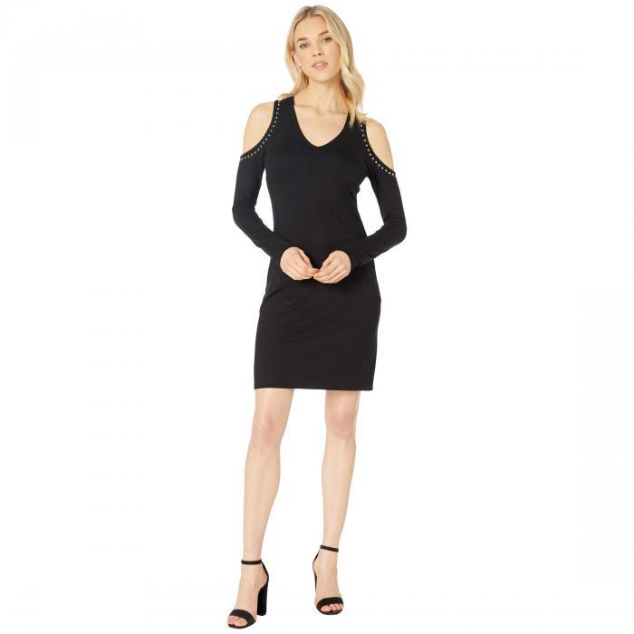 KAREN KANE ドレス レディースファッション ワンピース レディース 【 Cold Shoulder Studded Dress 】 Black