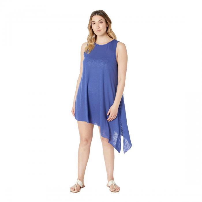 ベッカバイレベッカバーチュー BECCA BY REBECCA VIRTUE ドレス レディースファッション ワンピース レディース 【 Plus Size Keyhole Dress Cover-up 】 Blue Topaz