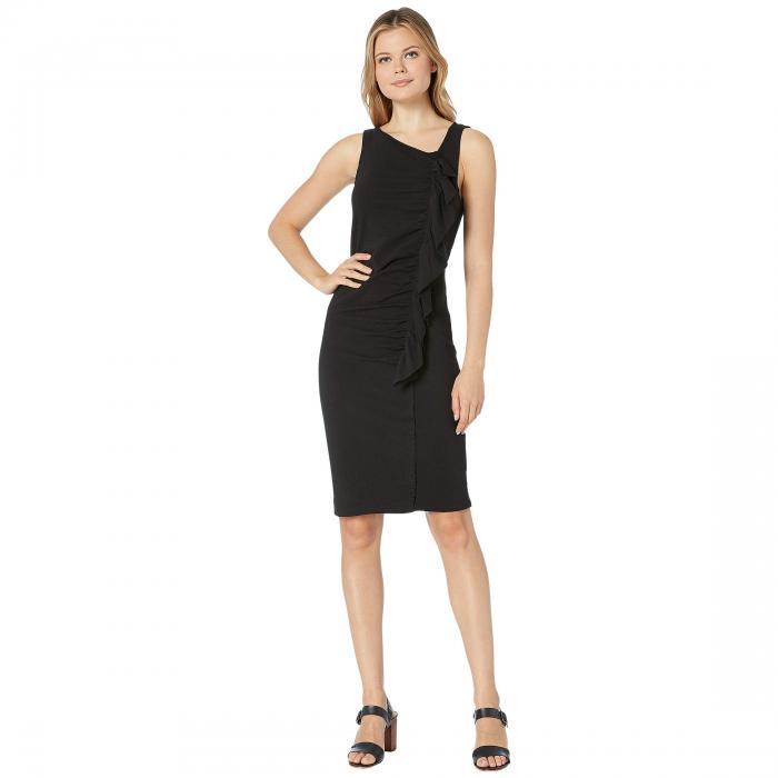 BOBEAU ドレス レディースファッション ワンピース レディース 【 French Terry Ruffle Front Dress 】 Black