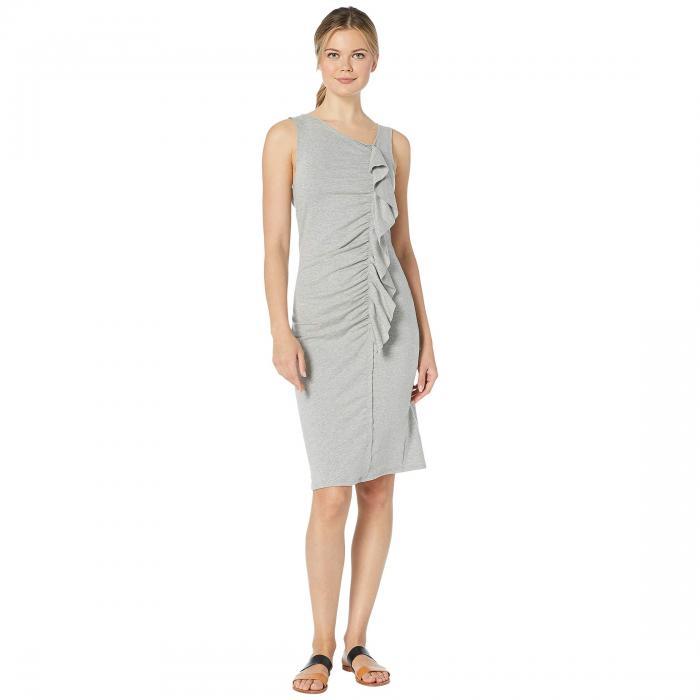 BOBEAU ドレス レディースファッション ワンピース レディース 【 French Terry Ruffle Front Dress 】 Heather Grey