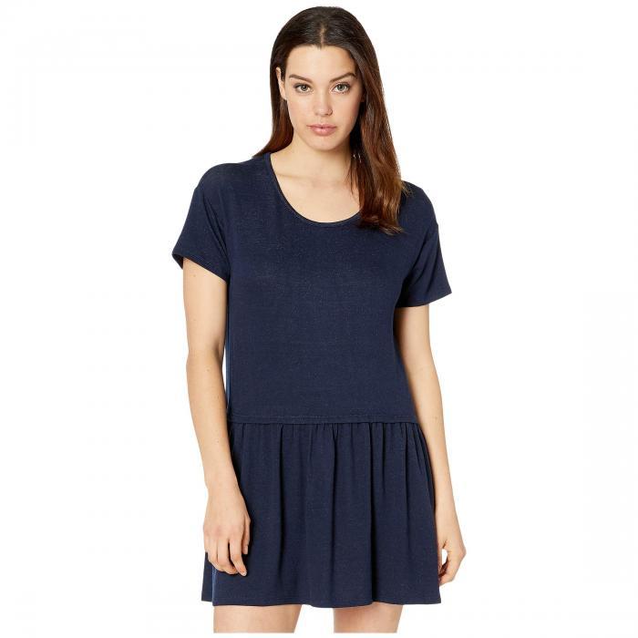 BOBEAU ニット ドレス レディースファッション ワンピース レディース 【 Pique Drop Waist Knit Dress 】 Navy
