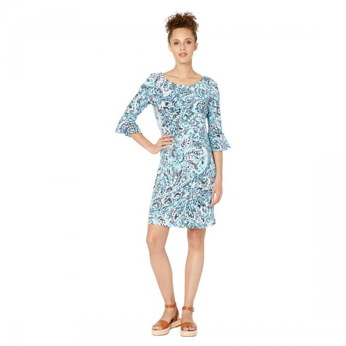 PAPPAGALLO ドレス レディースファッション ワンピース レディース 【 The Lulu Dress - Animal Paisley Printed Ity 】 Blue Multi