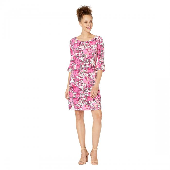 PAPPAGALLO ドレス スプリング ピンク 【 SPRING PINK THE LULU DRESS BLOOMS PRINTED ITY TROPICAL MULTI 】 レディースファッション ワンピース 送料無料