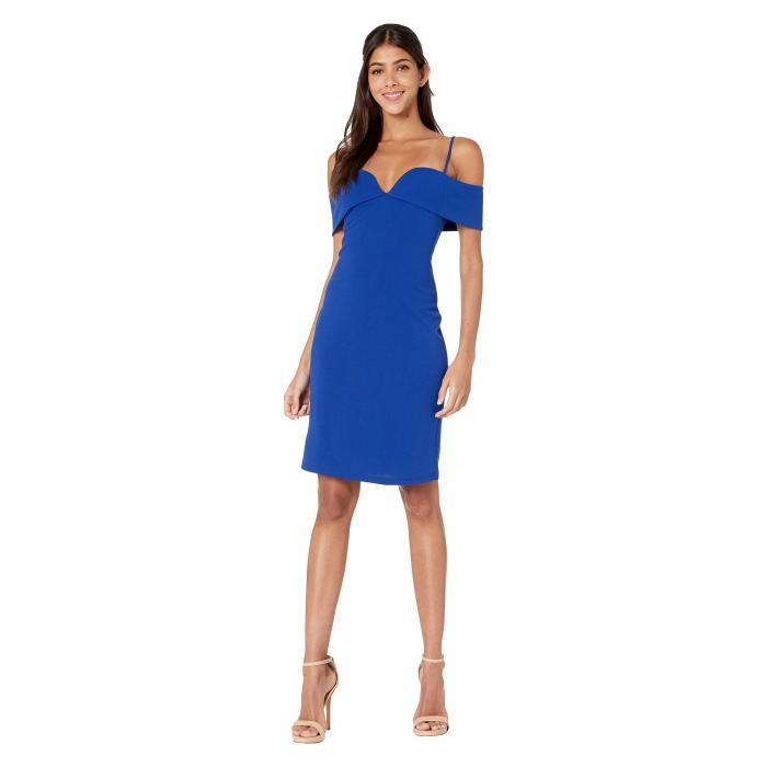 ベベ BEBE ドレス レディースファッション ワンピース レディース 【 Fold-over Off The Shoulder Short Dress 】 Colbalt