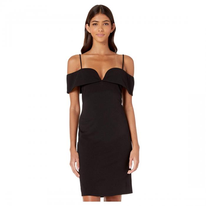 ベベ BEBE ドレス レディースファッション ワンピース レディース 【 Fold-over Off The Shoulder Short Dress 】 Black