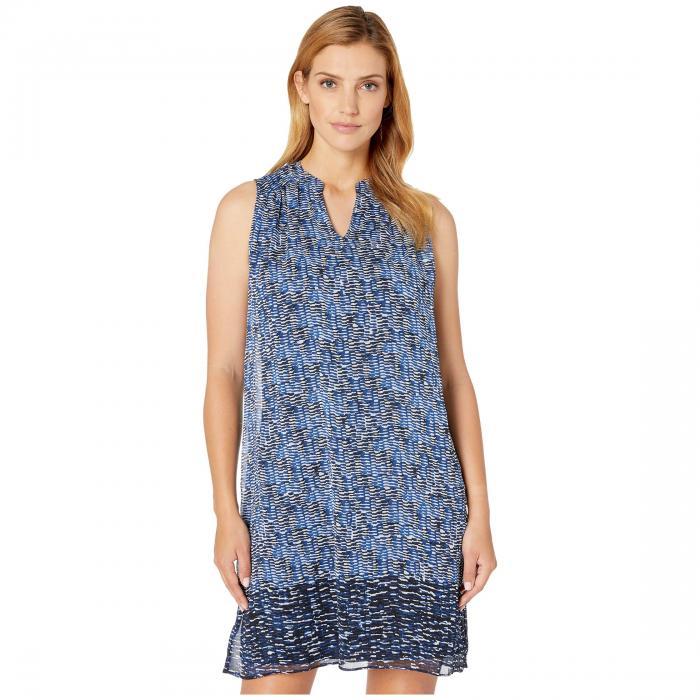 LONDON TIMES ブイネック ドレス レディースファッション ワンピース レディース 【 Shirred V-neck Shift Dress 】 White/blue