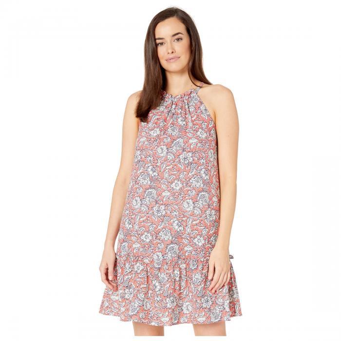 LONDON TIMES ドレス レディースファッション ワンピース レディース 【 Shirred Halter Dress 】 Ivory/coral
